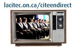 Télé et étudiants en tôges