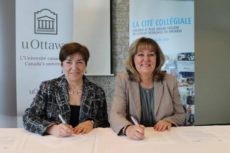 La Cité collégiale et l'Université d'Ottawa se réunissent à nouveau!