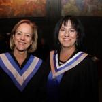 La présidente de La Cité collégiale, Mme Lise Bourgeois, en compagnie de Mme Lise Cloutier, présidente du conseil d'administration du collège
