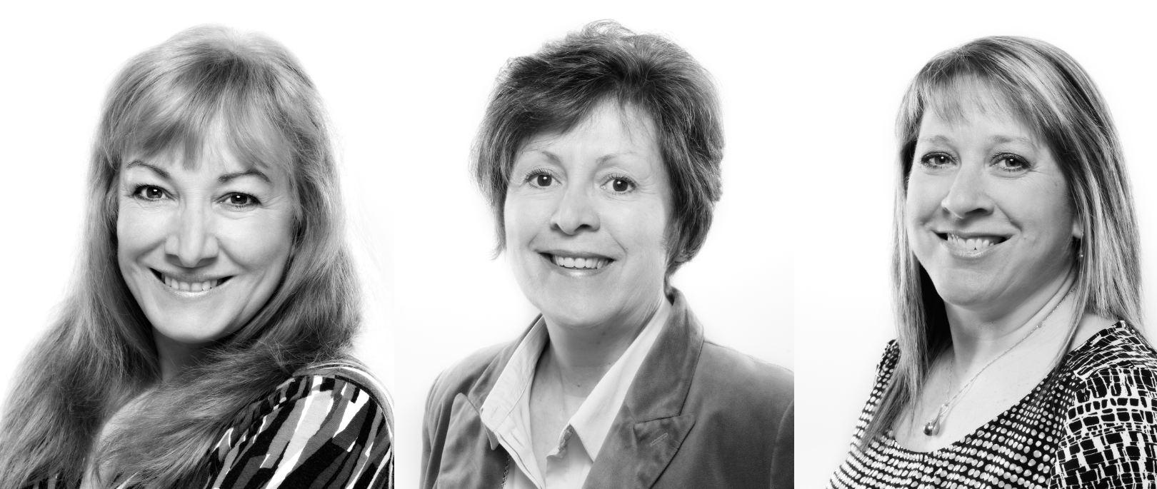 madame Lucie Lavallée, professeure au programme Design graphique;   madame Chantal Morin, professeure au programme Soins infirmiers auxiliaires;   madame Sylvie Rozon, professeure au programme Intervention auprès de personnes ayant un handicap.