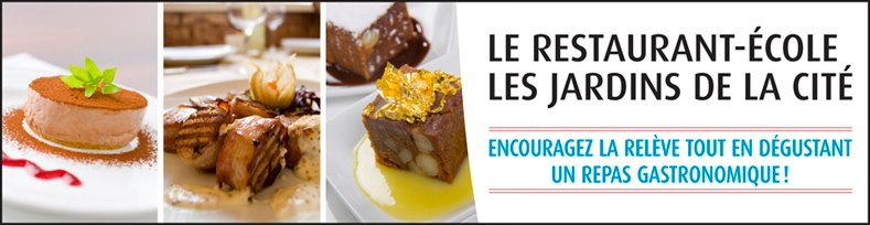 Le Restaurant - École Les Jardins de La Cité - Encourager la releve tout en dégustant un repas gastronomique
