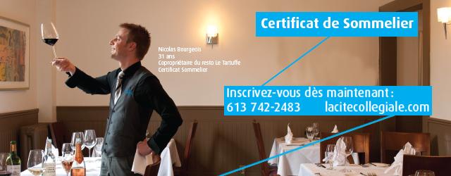 Certificat de sommelier a La Cité collégiale