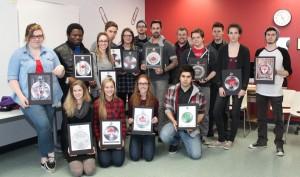Groupe d'étudiant de 2e année en Design Graphique