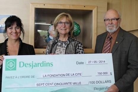 Merci à Desjardins pour sa généreuse contribution à La Fondation de La Cité
