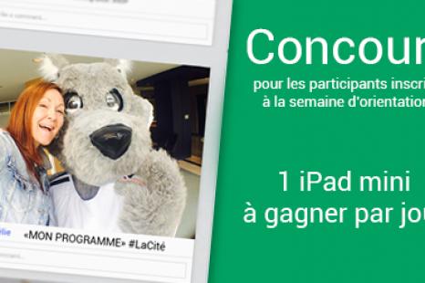 Concours pour les participants de la semaine d'orientation à La Cité