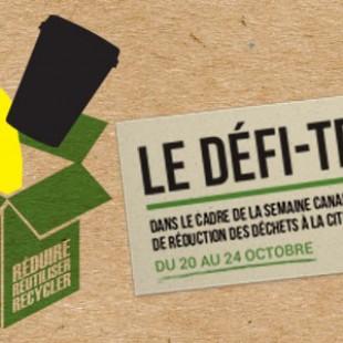 Trois activités pour souligner la Semaine canadienne de réduction des déchets à La Cité