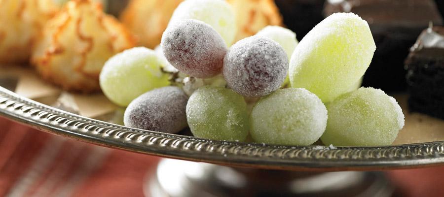 Une table de Noël éblouissante grâce à des raisins