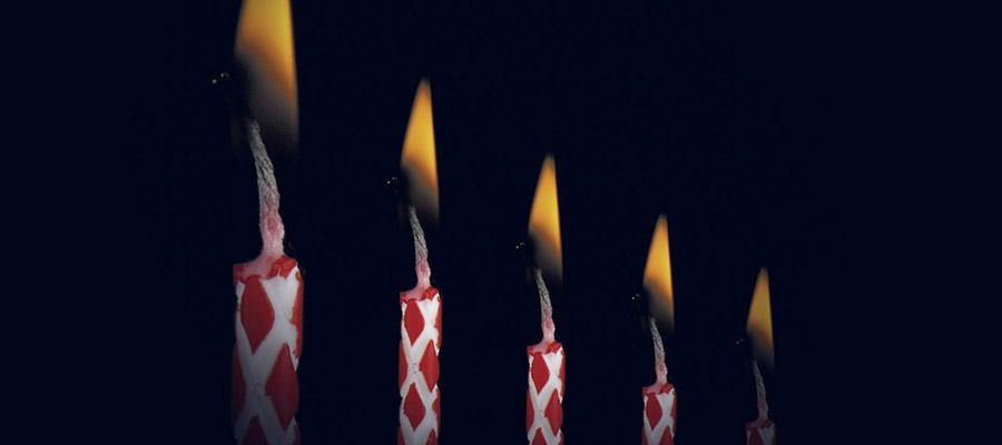 bougies allumées