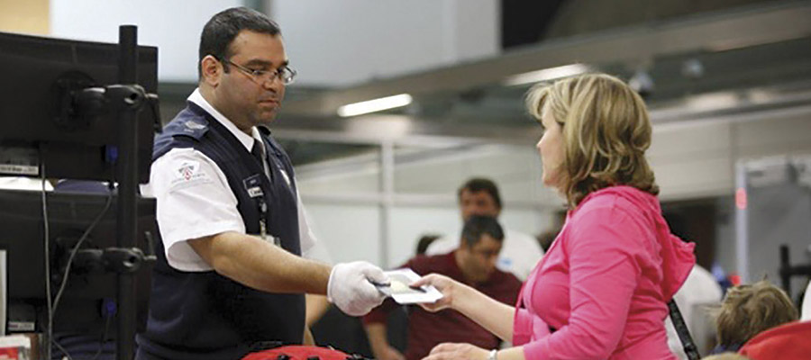 contrôle de sûreté d'un aéroport