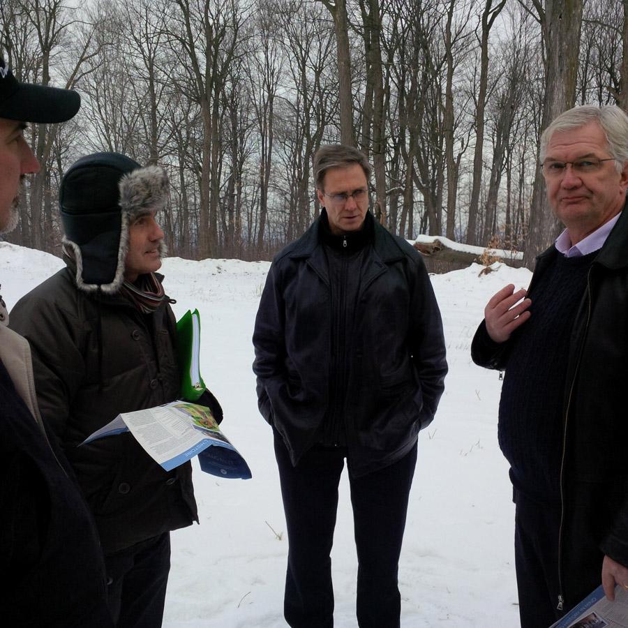 de gauche à droite : Patrick Boucher, François Bilodeau, Steve Goodwin, Don Schultz