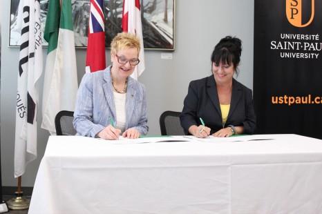 Le Collège Boréal, le collège La Cité et l'Université Saint-Paul signent une entente globale d'articulation