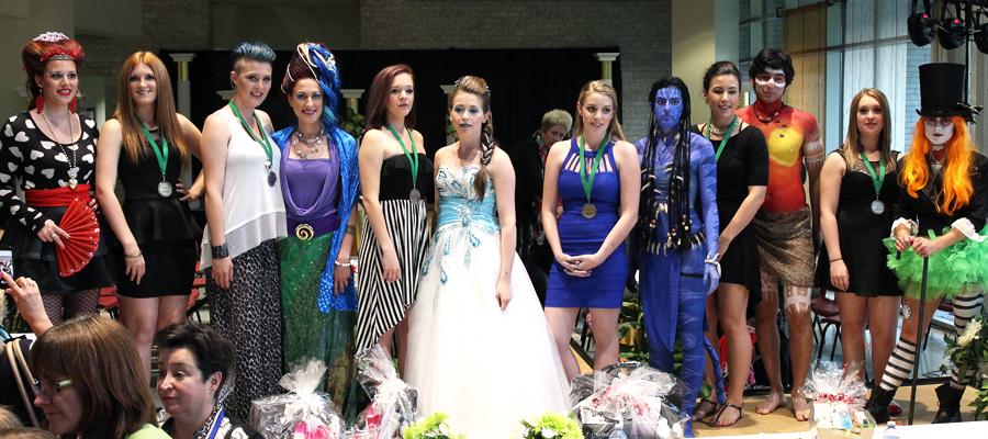 Gagnantes de la Compétition de coiffure et d'esthétique de La Cité