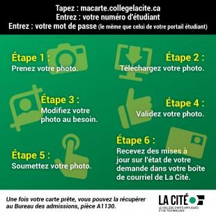 Votre carte étudiante : Saviez-vous que la seule façon de soumettre votre photo est en ligne?