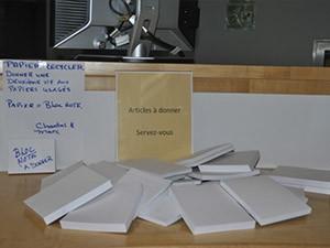 un système de récupération de papier