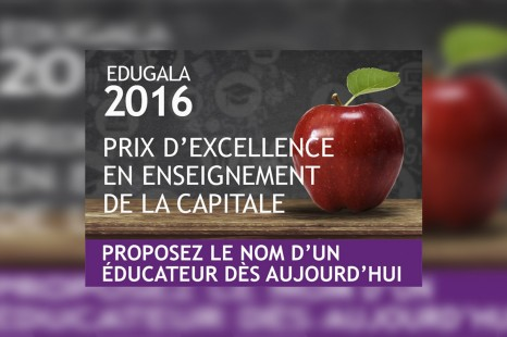 Une occasion de souligner l'excellence de nos professeurs