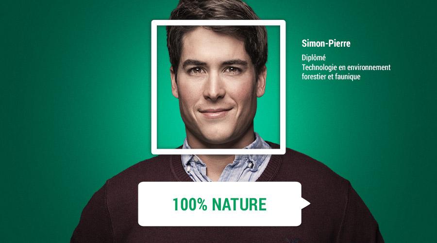 Simon-Pierre et son parcours 100 % nature