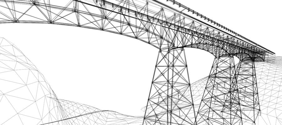 Plan d'un pont