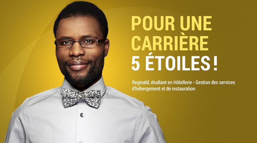 Reginald, étudiant en Hôtellerie - Gestion des services