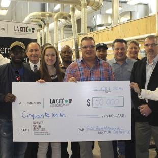 Un don de 50 000 $ de Gratien Proulx Matériaux de construction pour appuyer la relève
