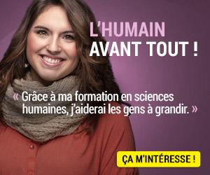 L'HUMAIN AVANT TOUT ! : Grâce à ma formation en sciences humaines,j'aiderai les gens à grandir.