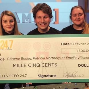 TFO récompense des étudiants en Production télévisuelle de La Cité