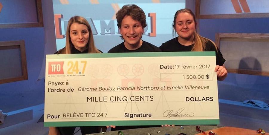L'équipe derrière ce reportage a remporté la somme de 1 500 $.