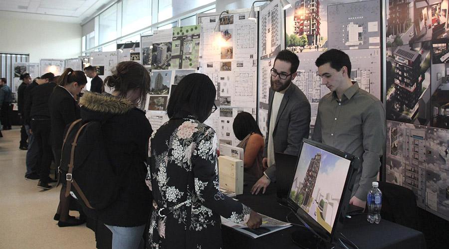 Plus de 70 projets réalisés par des finissants de La Cité attendaient les visiteurs dans le cadre de la deuxième édition d'Expo-Cité, le mardi 25 avril.