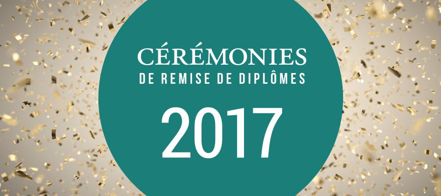 Cérémonies de remise de diplômes 2017 de La Cité