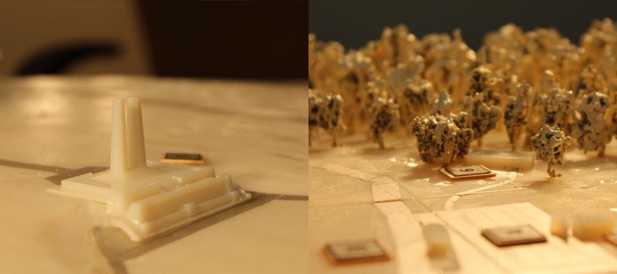 Impression 3D maquette rapprochée