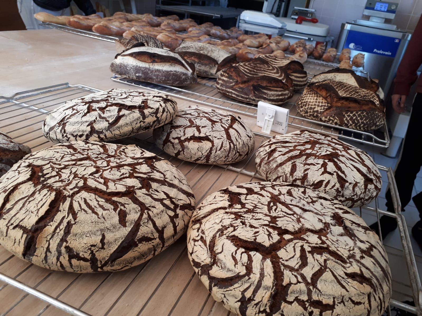 Des pains confectionnés par les Moulins Bourgeois, non loin de Paris.