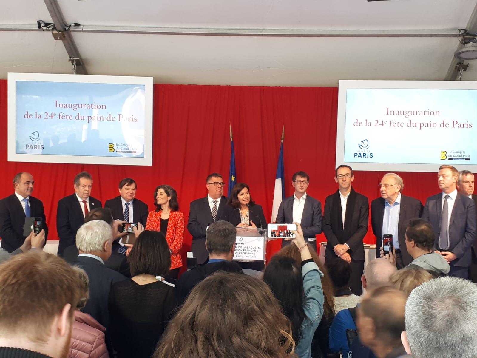 La mairesse de Paris, Anne Hidalgo, a prononcé quelques mots lors de la première journée de la Fête